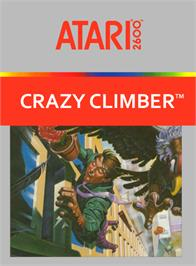 Box cover for Crazy Climber on the Atari 2600.