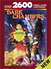 Box cover for Dark Chambers on the Atari 2600.