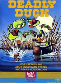 Box cover for Deadly Duck on the Atari 2600.