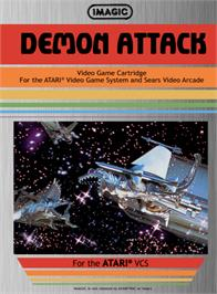 Box cover for Demon Attack on the Atari 2600.