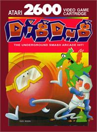Box cover for Dig Dug on the Atari 2600.