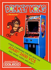 Box cover for Donkey Kong on the Atari 2600.