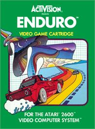 Box cover for Enduro on the Atari 2600.