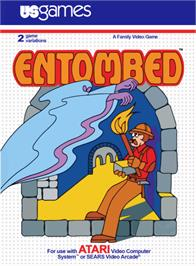 Box cover for Entombed on the Atari 2600.