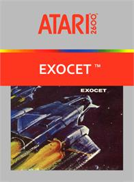 Box cover for Exocet on the Atari 2600.