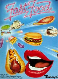 Box cover for Fast Food on the Atari 2600.