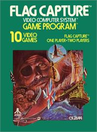 Box cover for Flag Capture on the Atari 2600.