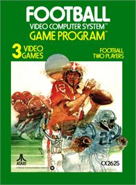 Box cover for Football on the Atari 2600.