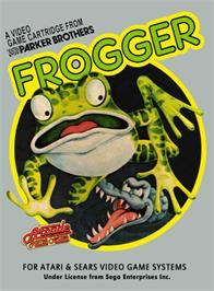 Box cover for Frogger on the Atari 2600.