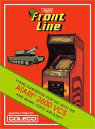 Box cover for Front Line on the Atari 2600.