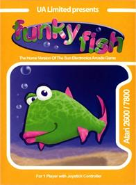 Box cover for Funky Fish on the Atari 2600.