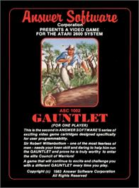 Box cover for Gauntlet on the Atari 2600.