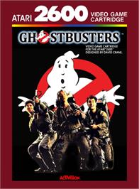 Box cover for Ghostbusters on the Atari 2600.