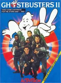 Box cover for Ghostbusters II on the Atari 2600.