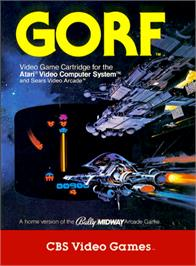 Box cover for Gorf on the Atari 2600.