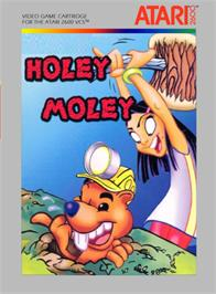 Box cover for Holey Moley on the Atari 2600.