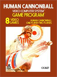 Box cover for Human Cannonball on the Atari 2600.