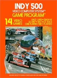 Box cover for Indy 500 on the Atari 2600.