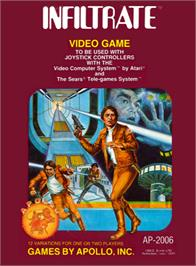 Box cover for Infiltrate on the Atari 2600.