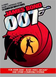 Box cover for James Bond 007 on the Atari 2600.