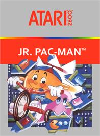 Box cover for Jr. Pac-Man on the Atari 2600.