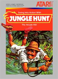 Box cover for Jungle Hunt on the Atari 2600.