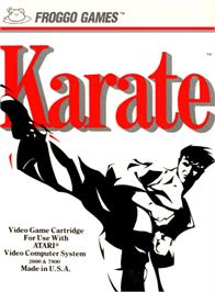 Box cover for Karate on the Atari 2600.