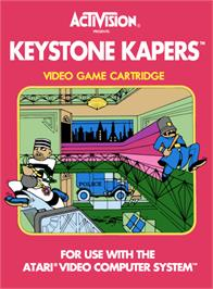 Box cover for Keystone Kapers on the Atari 2600.