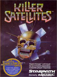Box cover for Killer Satellites on the Atari 2600.