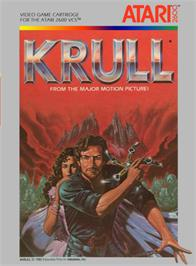 Box cover for Krull on the Atari 2600.