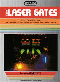 Box cover for Laser Gates on the Atari 2600.