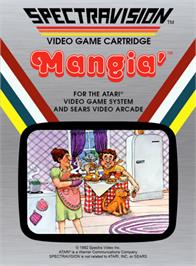 Box cover for Mangia' on the Atari 2600.