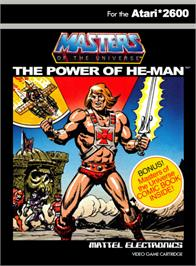 Box cover for Masters of the Universe: The Power of He-Man on the Atari 2600.