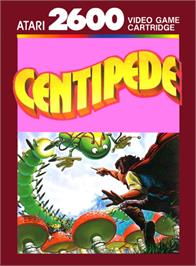 Box cover for Millipede on the Atari 2600.