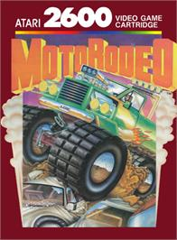 Box cover for MotoRodeo on the Atari 2600.
