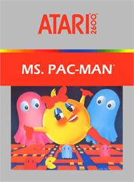 Box cover for Ms. Pac-Man on the Atari 2600.
