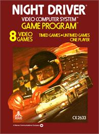 Box cover for Night Driver on the Atari 2600.
