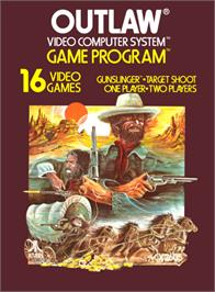 Box cover for Outlaw on the Atari 2600.