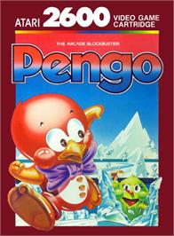 Box cover for Pengo on the Atari 2600.