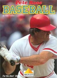Box cover for Pete Rose Pennant Fever on the Atari 2600.