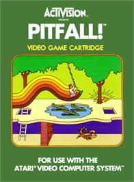 Box cover for Pitfall! on the Atari 2600.