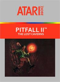 Box cover for Pitfall II: Lost Caverns on the Atari 2600.