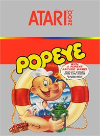 Box cover for Popeye on the Atari 2600.