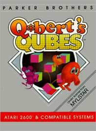 Box cover for Q*Bert's Qubes on the Atari 2600.