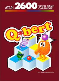 Box cover for Q*bert on the Atari 2600.