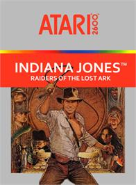 Box cover for Raiders of the Lost Ark on the Atari 2600.