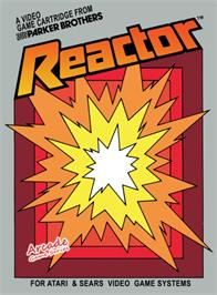 Box cover for Reactor on the Atari 2600.