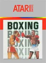 Box cover for RealSports Boxing on the Atari 2600.