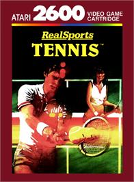 Box cover for RealSports Tennis on the Atari 2600.
