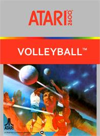 Box cover for RealSports Volleyball on the Atari 2600.
